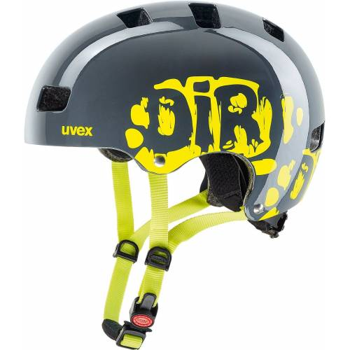 Uvex Kinderfahrradhelm »Fahrradhelm Kid3 dirtbike grey-lime 51-55«