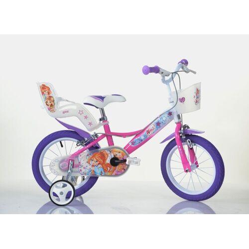 Dino BIkes Kinderfahrrad »14 Zoll Winx Club Kinderfahrrad Kinderrad Fahrrad Spielrad Kinder- Fahrrad«, 1 Gang, Keine Schaltung