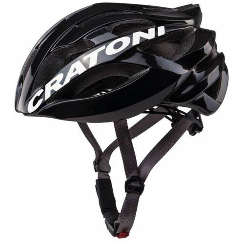 Cratoni Fahrradhelm »Road-Fahrradhelm C-Bolt«, Reflektoren, eingeschäumte Gurtbänder, schwarz/weiß glanz   schwarz-weiß