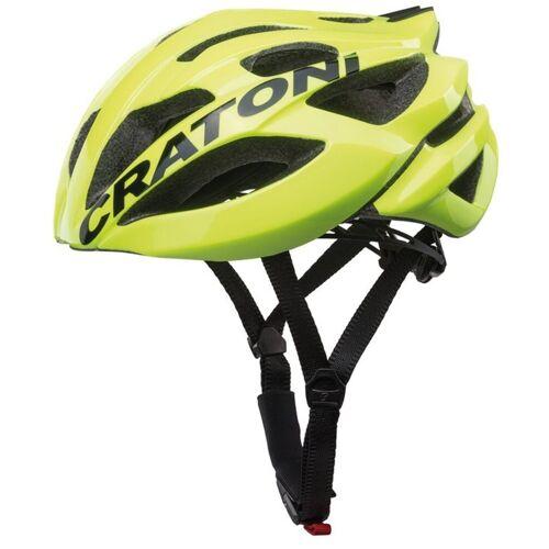 Cratoni Fahrradhelm »Road-Fahrradhelm C-Bolt«, Reflektoren, eingeschäumte Gurtbänder, neongelb/schwarz glanz   neongelb-schwarz