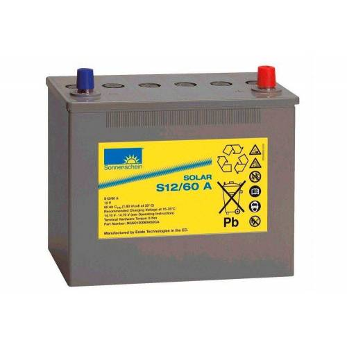 Sunset Solar-Gel-Batterie 60 Ah, grau