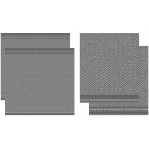 DDDDD Geschirrtuch »Akira«, (Set, 4-tlg), Combiset: 2 Küchentücher & 2 Geschirrtücher