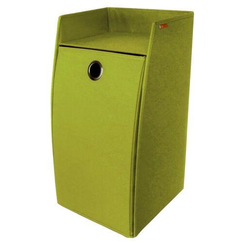 Franz Müller Flechtwaren Wäschebox (1 Stück), faltbar, Höhe 65 cm, grün