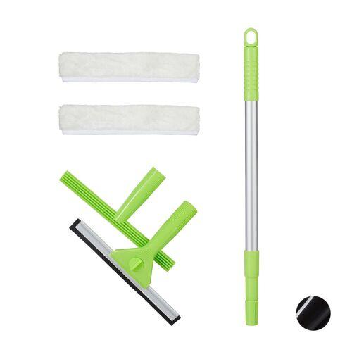 relaxdays Wasserabzieher »Fensterreinigungsset«, Grün