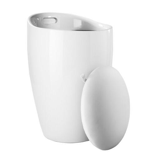 heine home Badhocker mit integriertem Wäschesammler, weiß