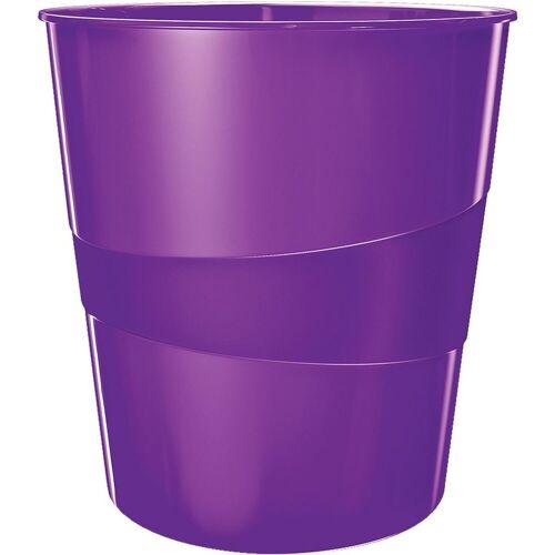 LEITZ Papierkorb »WOW 5278«, violett metallic