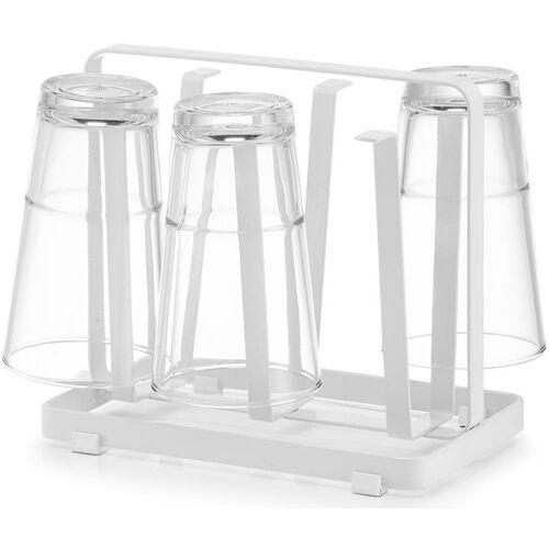 Zeller Present Geschirrständer, für Tassen und Gläser, Maße ca.: 20 x 17,5 x 12 cm