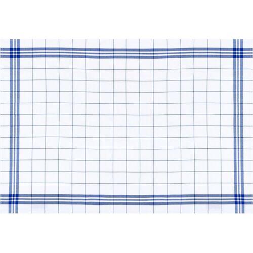 stuco Geschirrtuch »Bambus, kariert«, (Set, 3-tlg), weiß-blau