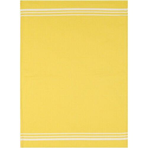 stuco Geschirrtuch »Waffel, farbig«, (Set, 3-tlg), gelb-weiß