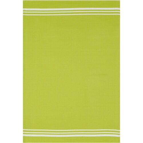 stuco Geschirrtuch »Waffel, farbig«, (Set, 3-tlg), hellgrün-weiß