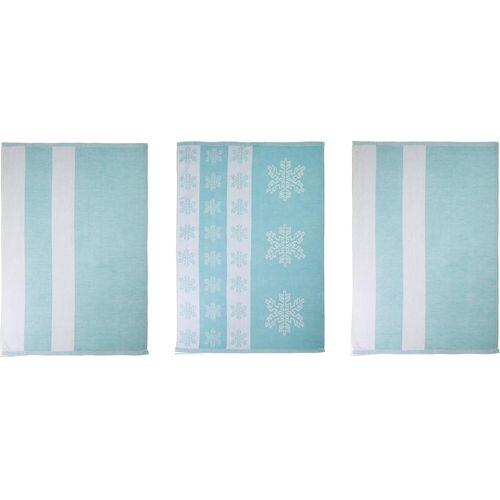 stuco Geschirrtuch »Eiskristall«, (Set, 9-tlg), in zwei Varianten