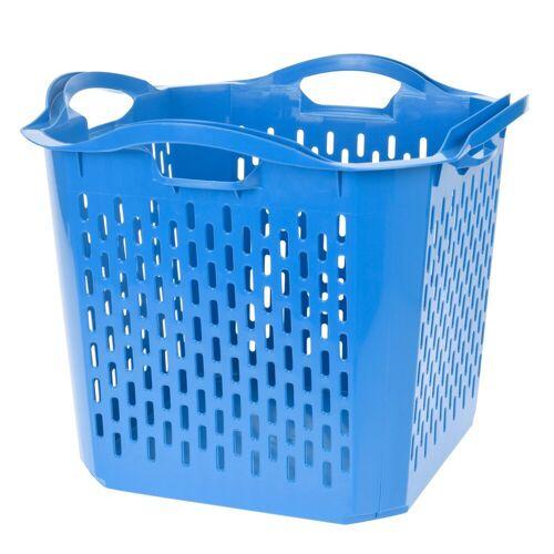 HTI-Living Wäschekorb Quadratisch, Blau