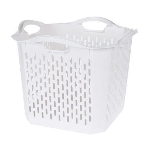 HTI-Living Wäschekorb Quadratisch, Weiss