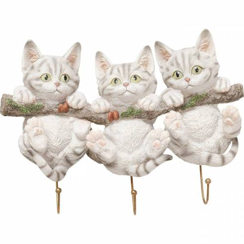 KARE Garderobe »Wandhaken Three Mini Cats«