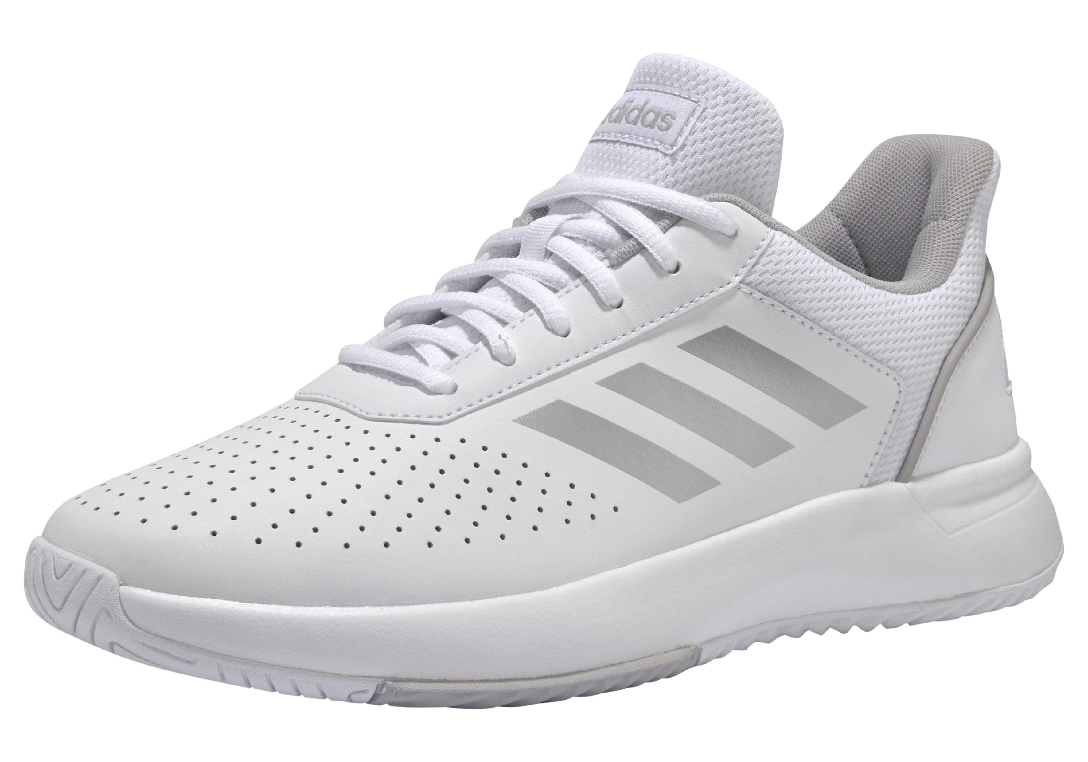 Adidas »Courtmash W« Walkingschuh, weiß-silberfarben