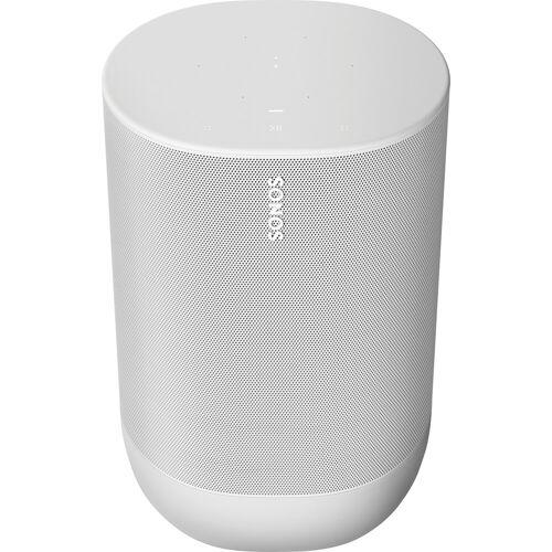 Sonos Move Mono Smart Speaker (Bluetooth, WLAN (WiFi), 40 W), Lunar White