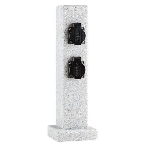 Waldbeck Gartensteckdose »Granite Power Gartensteckdose Steckdosensäule 4er 3500 W PE Steinoptik«