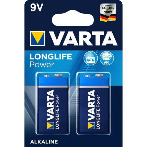 Varta »LONGLIFE Power Alkaline Batterie, 9 V E-Block 6LP3146 2er-Pack ideal für Feuermelder« Batterie, (9 V)