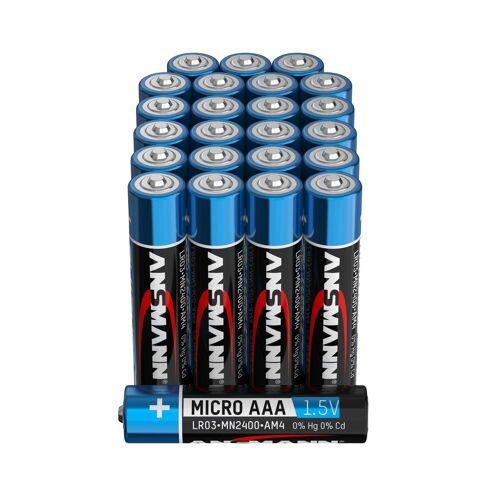 Ansmann »Batterien AAA 24 Stück, Alkaline Micro Batterie, für Lichterkette uvm.« Batterie