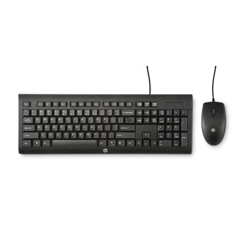 HP Wired Combo C2500 Tastatur + Maus »praktischen Tastatur und der 3-Tasten-Maus«, schwarz