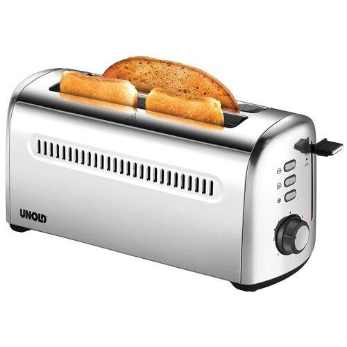 Unold Toaster 38366 4er Retro Langschlitztoaster silber
