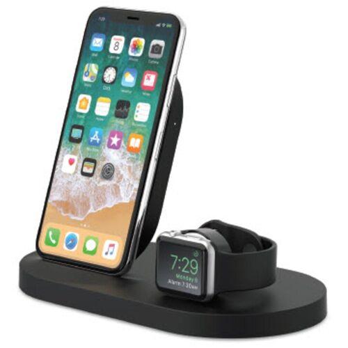Belkin Lader »7,5W Wireless Charging Dock iPhone und Apple Watch«, Schwarz