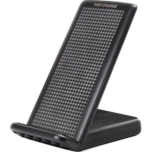 felixx Lader »Premium Wireless Fast Charger Desktop Stand«, Schwarz