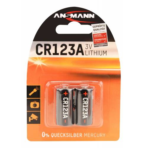 Ansmann »Lithium Batterie CR123A / CR17335« Batterie
