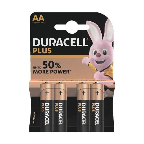Duracell »PLUS« Batterie, (4 St), AA, lange Lebensdauer