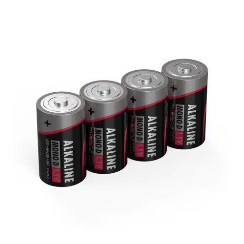 Ansmann »4x Alkaline Batterie Mono D 1,5V – LR20 MN1300 Batterien (4 Stück)« Batterie