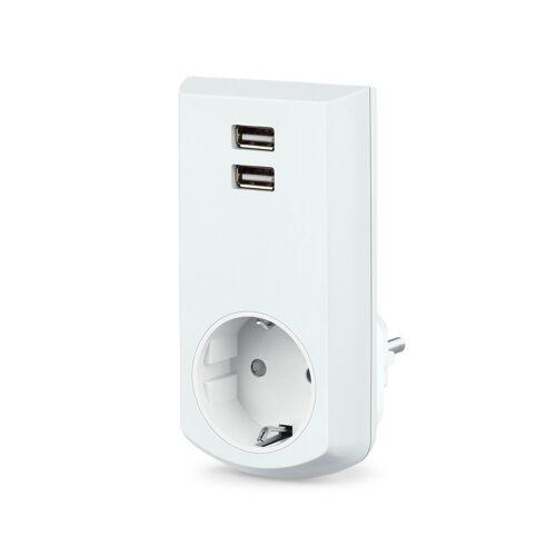 conecto »Schutzkontakt-Steckdose mit 2-fachem USB-A« USB-Ladegerät
