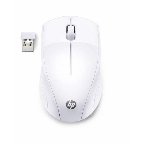 HP Wireless Mouse 220 »Beidhändig bedienbare Wireless Travel-Maus«, weiß