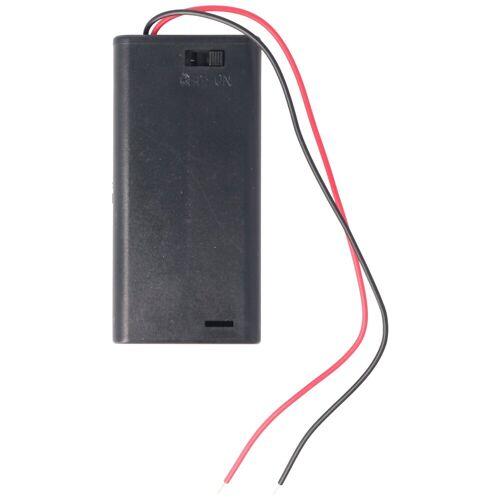 AccuCell »Batteriehalter für 2x Mignon AA LR6 Batterie mit A« Batterie