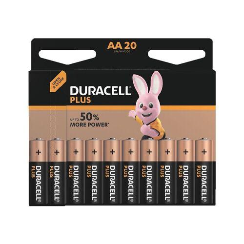 Duracell »PLUS« Batterie, (20 St), AA, lange Lebensdauer