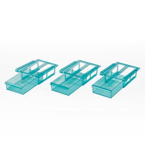 GOURMETmaxx Klemmbefestigung, , (3er Set in blau), für Kühlschrank