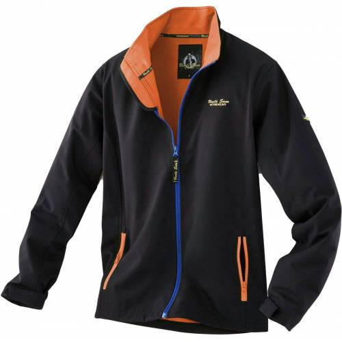 Uncle Sam Softshelljacke »Softshelljacke«, orange-schwarz-marine