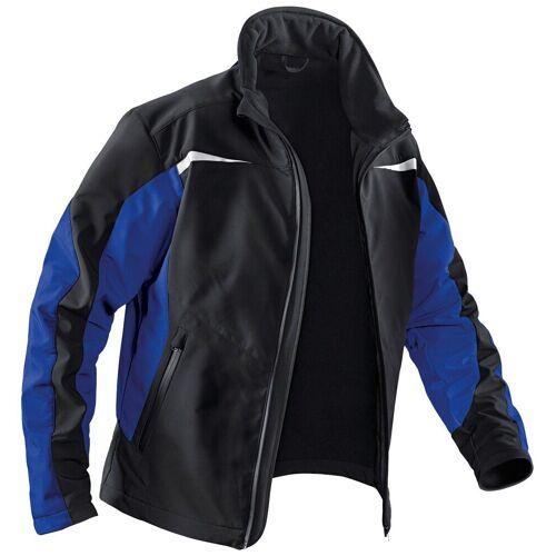 Kübler Softshelljacke »Softshell Jacke« mit 4 Taschen, schwarz-blau