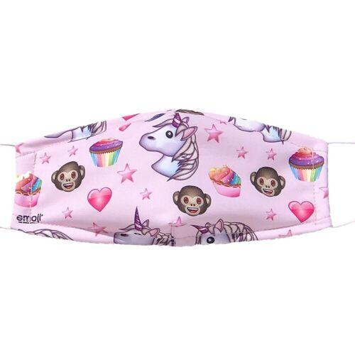 SkyBrands Mundschutz »Mund-Nasen-Maske Emojis, rosa, 2er Pack«