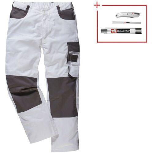 Arbeitshose »Extreme+«, 2er-Set, 6 Taschen, weiß/grau