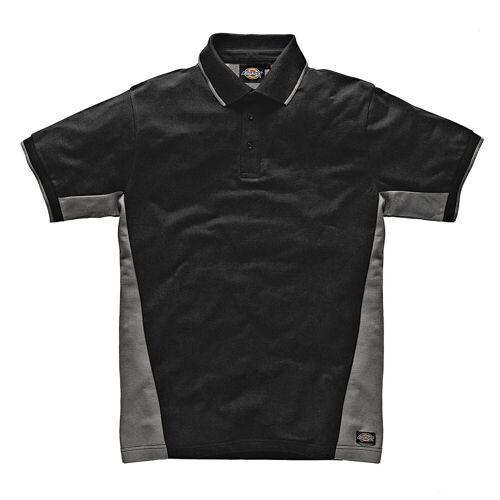 Dickies Poloshirt 100 % Baumwolle, schwarz-grau