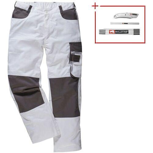 Arbeitshose »Extreme+«, 6 Taschen, weiß/grau