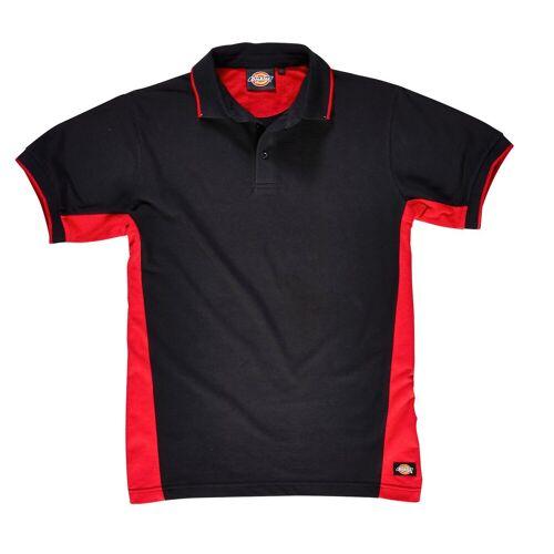 Dickies Poloshirt 100 % Baumwolle, rot-schwarz