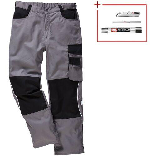 Arbeitshose »Extreme+«, 2er-Set, 6 Taschen, grau/schwarz