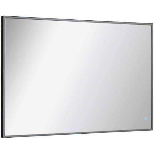 FACKELMANN Badspiegel »New York Eckig« (1-St), umlaufende LED-Beleuchtung, dimmbar