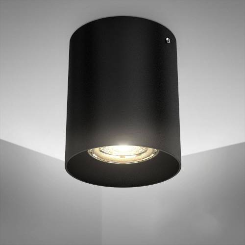 B.K.Licht Aufbauleuchte, LED Aufbaustrahler, GU10, schwarz, metall