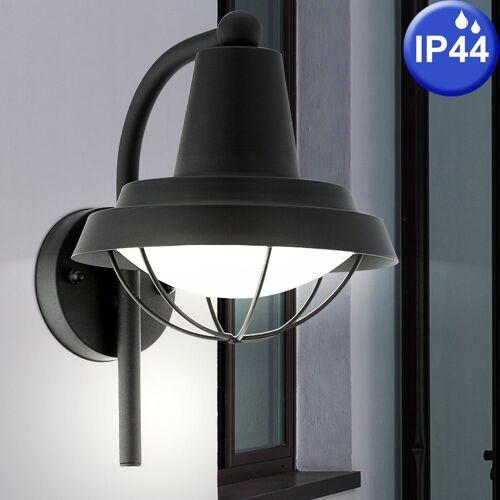 EGLO LED Laterne, Außen Bereich Wand Lampe Balkon Grundstück Leuchte Laterne schwarz 94862