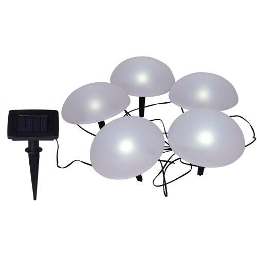 näve LED Gartenleuchte »HALBKUGEL«, 5-flammig, Solar-Dekoleuchten, 5er-Set