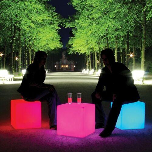 Moree Stehlampe »Akku LED Sitzwürfel Cube mit Farbwechsel IP54«
