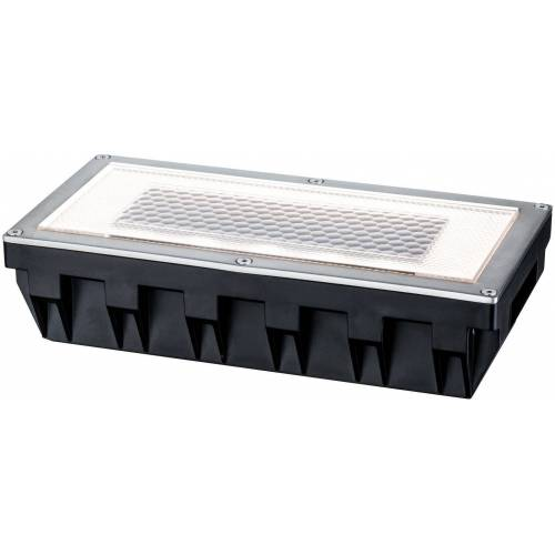 Paulmann LED Einbauleuchte »Box«, Bodeneinbauleuchten-Set, Solar, Edelstahl