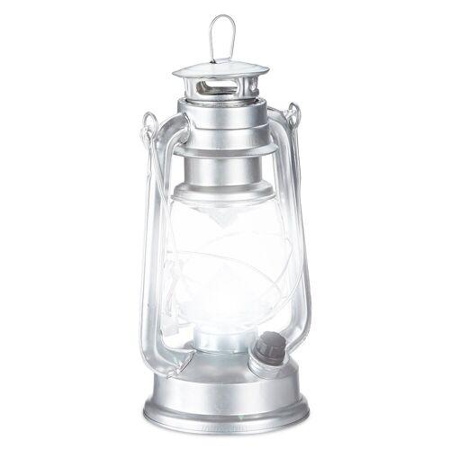 relaxdays LED Laterne »Sturmlaterne LED«, Silber